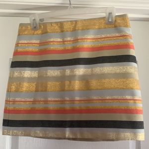 J Crew stripe skirt. NWOT. Size 4
